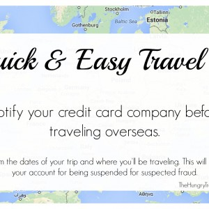 Quick & Easy Travel Tip – Credit Cards
