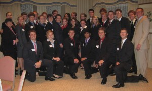 My business school classmates at our freshman year etiquette dinner.