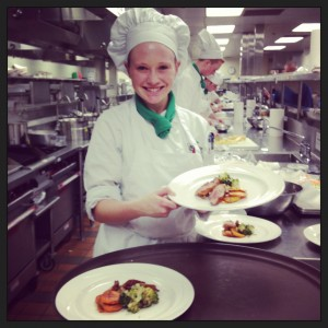 My first cooking competition at culinary school