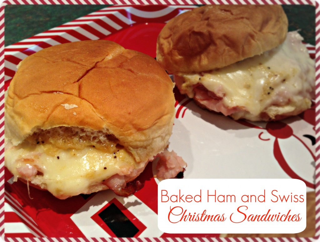 Baked Ham and Swiss Christmas Sandwiches