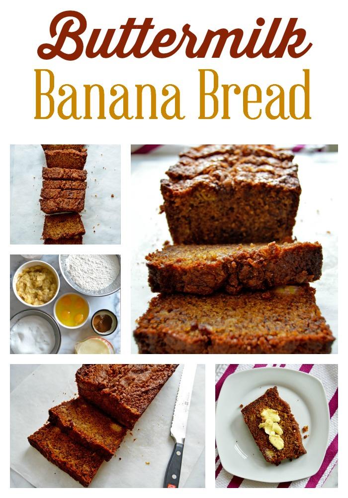 Buttermilk Banana Bread |www.TheHungryTravelerBlog.com