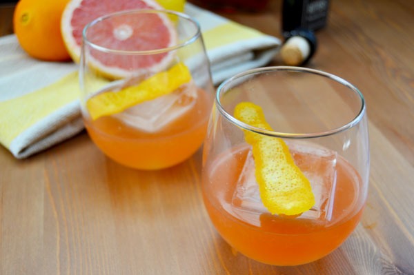 Freshly Squeezed Grapefruit, Orange, and Lemon Juice Bourbon Cocktail | www.TheHungryTravelerBlog.com
