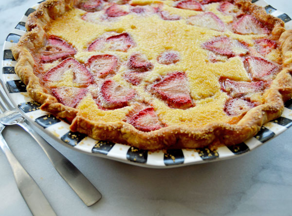 Strawberry Buttermilk Chess Pie