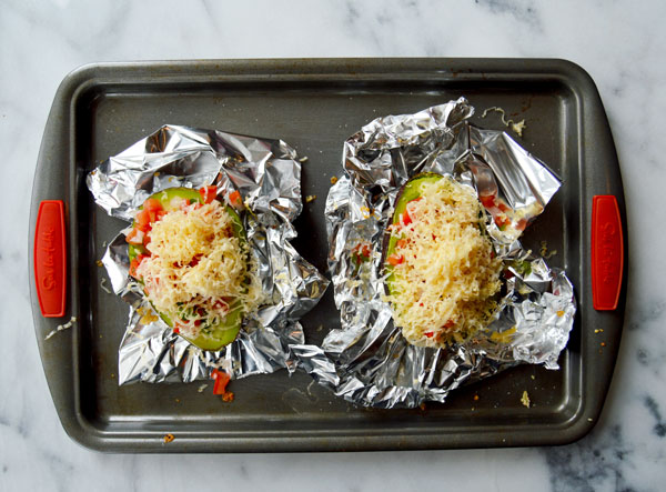 Baked Avocado - Take an avocado, filled it with pico de gallo, top it with shredded cheese and baked until melty and warm. Delicious and healthy!