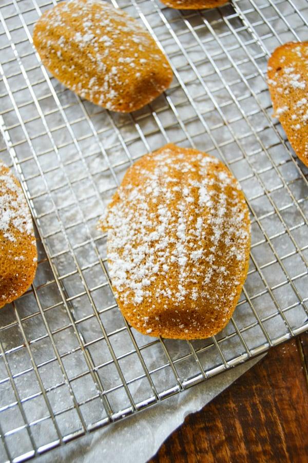 Brown Butter Pumpkin Madeleines | www.TheHungryTravelerBlog.com