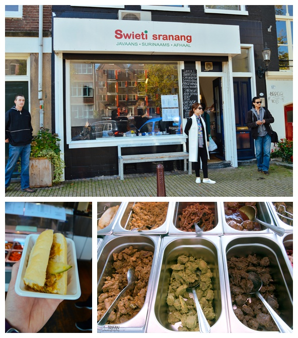 Indonesian and Surinamese Food at Swieti Sranang | Eating Amsterdam Food Tour - Jordaan Food and Canals Tour