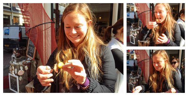 Trying Herring at Vis Plaza Fish Shop | Eating Amsterdam Food Tour - Jordaan Food and Canals Tour