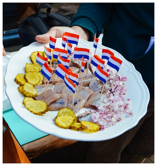Herring from Vis Plaza Fish Shop | Eating Amsterdam Food Tour - Jordaan Food and Canals Tour