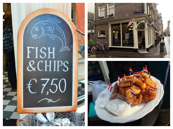 Fish and Chips at Vis Plaza Fish Shop | Eating Amsterdam Food Tour - Jordaan Food and Canals Tour