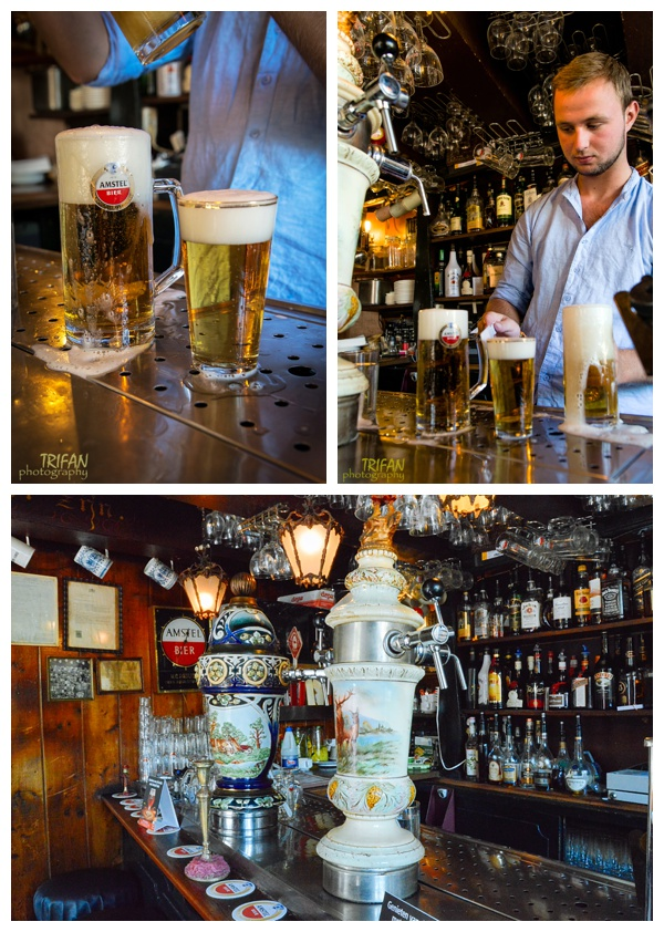 The beer taps at Cafe Papeneiland | Eating Amsterdam Food Tour - Jordaan Food and Canals Tour