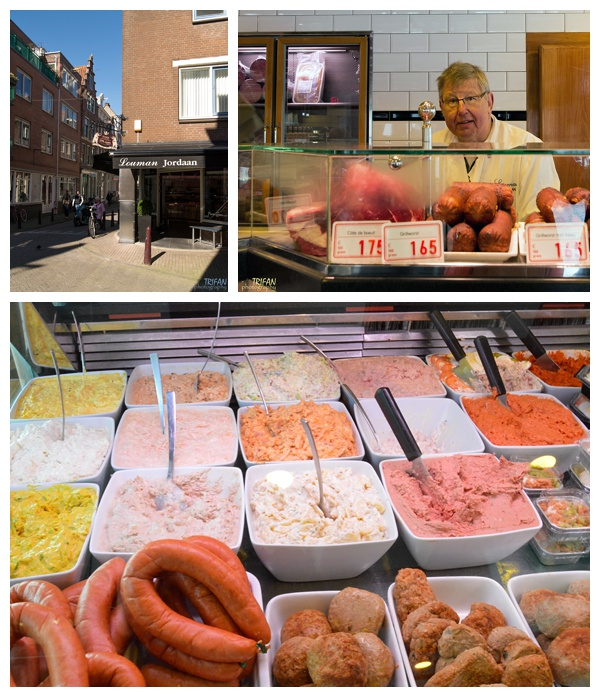 The display case at Butcher Louman | Eating Amsterdam Food Tour - Jordaan Food and Canals Tour