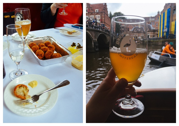 Bitterballen and Craft Beer on an Amsterdam Canal Boat | Eating Amsterdam Food Tour - Jordaan Food and Canals Tour