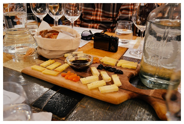 A cheese platter on the Taste Hungary Budapest Food Tour
