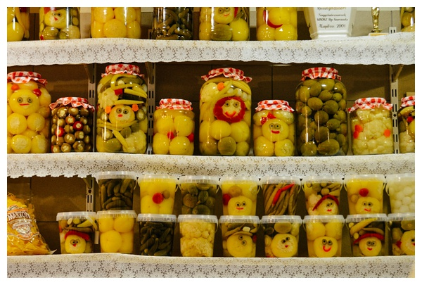 Jars of Pickled Vegetable on the Taste Hungary Budapest Food Tour