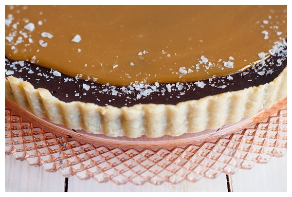 A close up of the crust of the French Salted Caramel Chocolate Tart