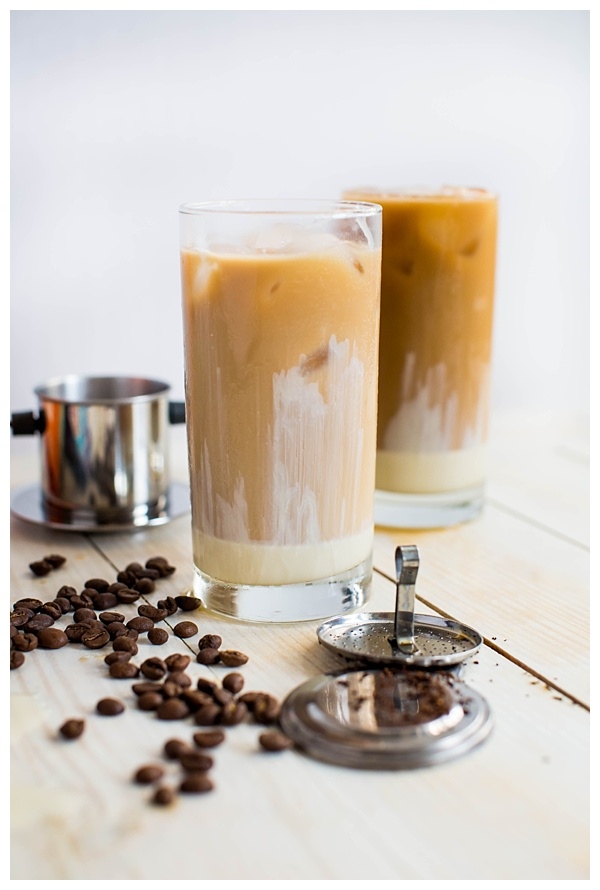 Vietnamese Iced Coffee is a refreshing beverage made from strong dark roast coffee, creamy sweetened condensed milk, and ice. It's intense and delicious!