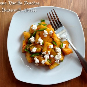 Jalapeño Vanilla Peaches with Buttermilk Cheese