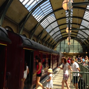 Boarding the Hogwarts Express at The Wizarding World of Harry Potter