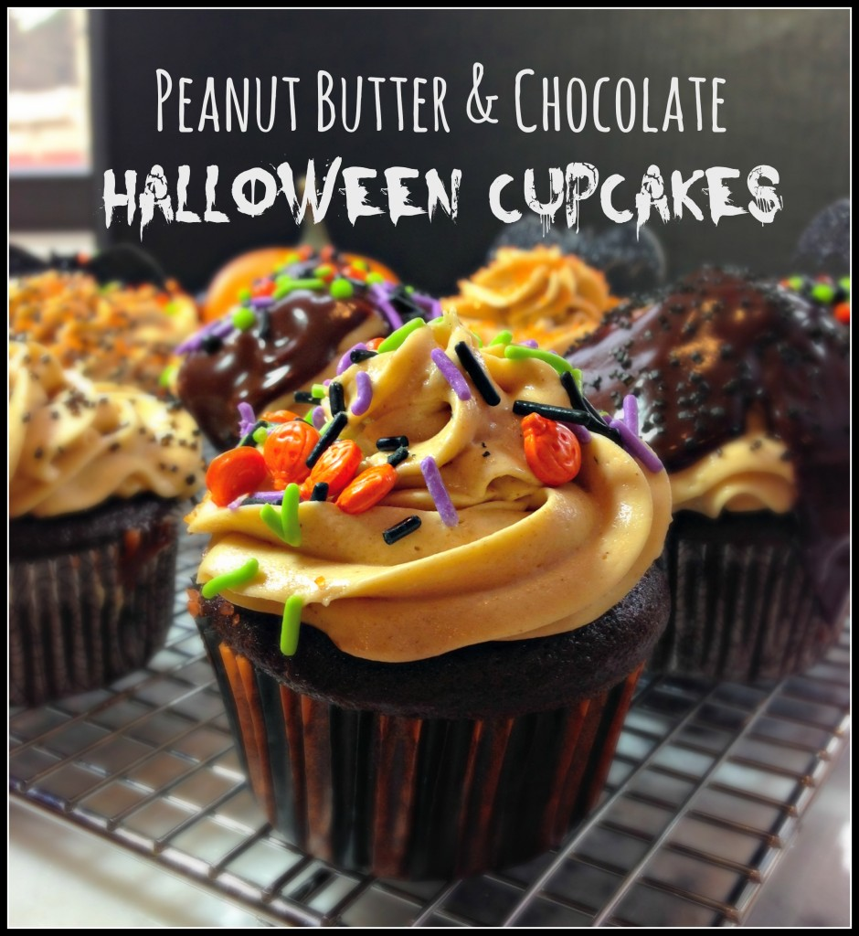 peanut butter chocolate cupcakes for halloween cupcakes halloween peanutbutter chocolate