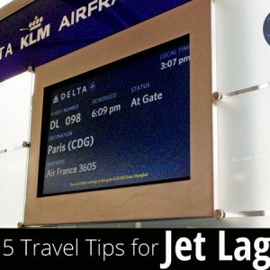 5 Travel Tips for Jet Lag - proven strategies to help conquer jet lag. The first day is crucial for resetting your body clock for the rest of the trip. | www.TheHungryTravelerBlog.com
