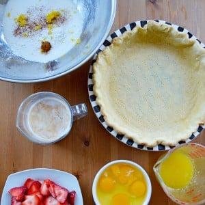 Strawberry Buttermilk Chess Pie