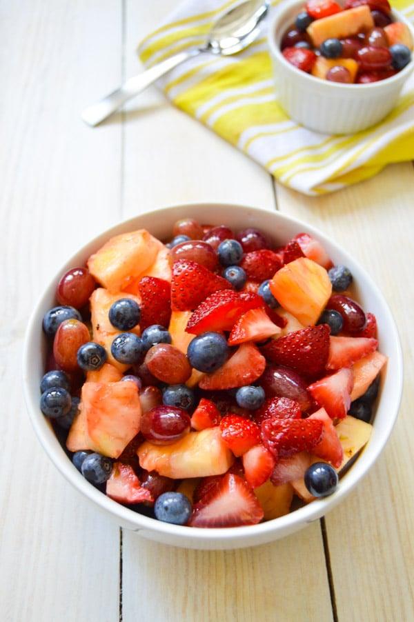 Ginger Vanilla Fruit Salad | www.TheHungryTravelerBlog.com