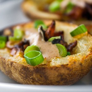 Fully Loaded Green Chile Potato Skins from The Heritage Cook