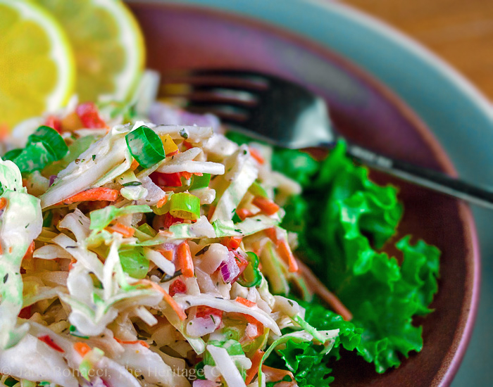 Ranch-Flavored Cole Slaw (Gluten Free) | The Heritage Cook