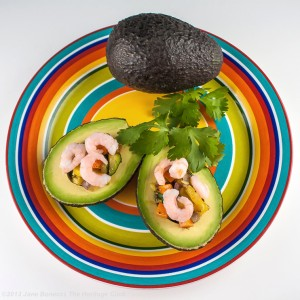 Vegetable and Shrimp Stuffed Avocados | The Heritage Cook