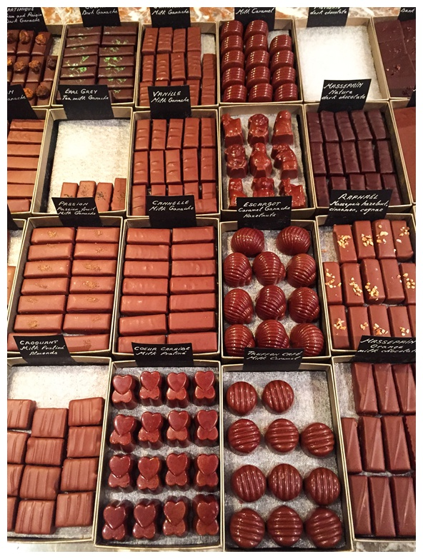 Chocolates from Frederic Blondeel on the Brussels Beer and Chocolate Tour