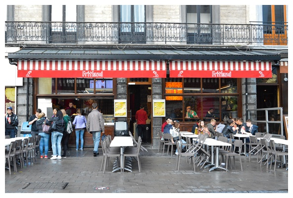 Fritland, the best fries in Brussels, on the Brussels Beer and Chocolate Tour