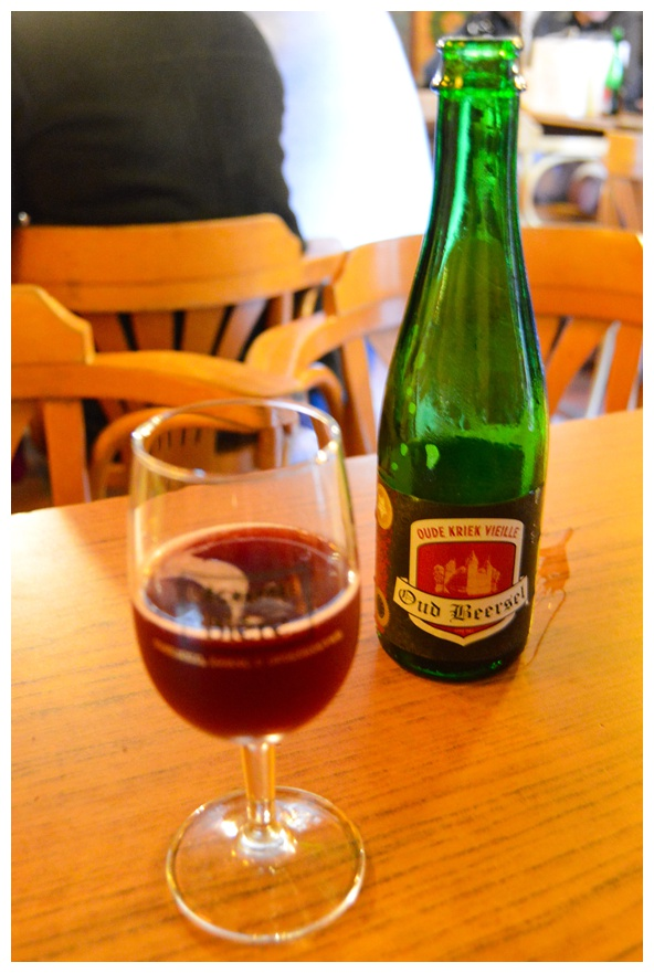 Cheery Lambic known as Kriek on the Brussels Beer and Chocolate Tour
