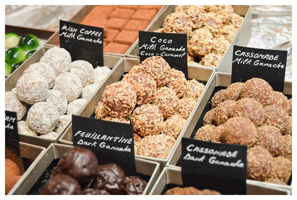 The chocolate truffles at Frederic Blondeel on the Brussels Beer and Chocolate Tour