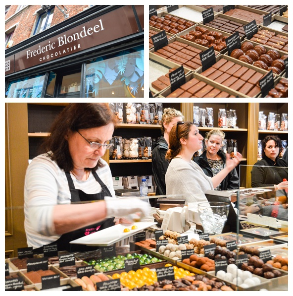 Gourmet Chocolates at Frederic Blondeel on the Brussels Beer and Chocolate Tour
