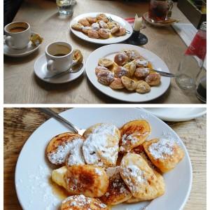 Poffertjes at Cafe de Prins | Eating Amsterdam Food Tour - Jordaan Food and Canals Tour