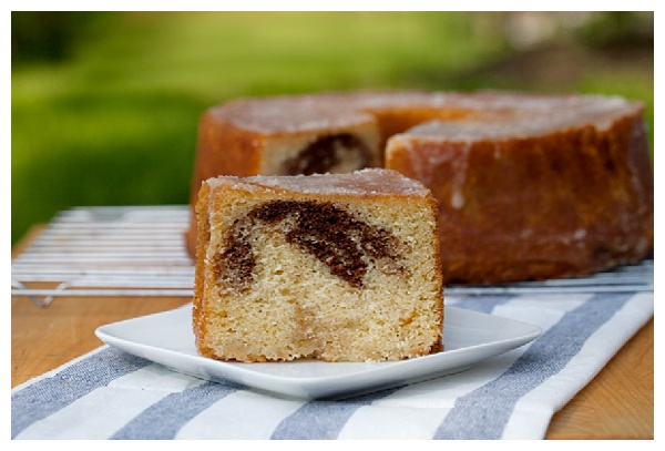 Marbled Bourbon Pound Cake from Tasting Kentucky | The Hungry Traveler