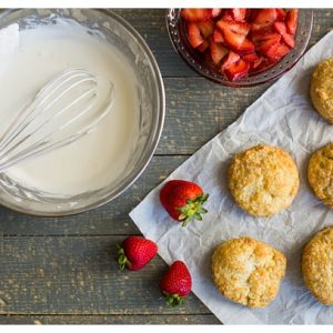 Strawberry Shortcake -- This is my favorite recipe from childhood with sweet strawberries, flakey biscuits, and rich whipped cream. Don't forget a scoop of vanilla ice cream to take it over the top!