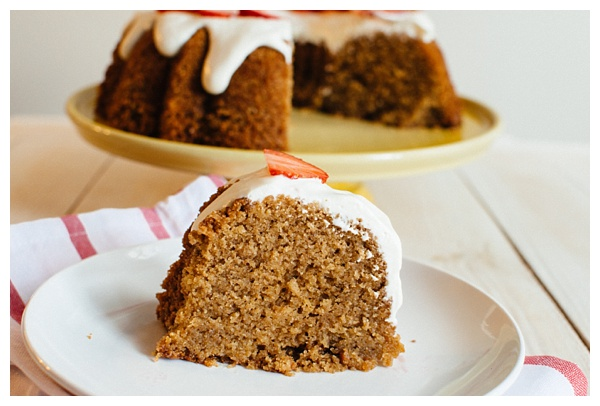 Whole Wheat Pound Cake With Strawberries And Cream The
