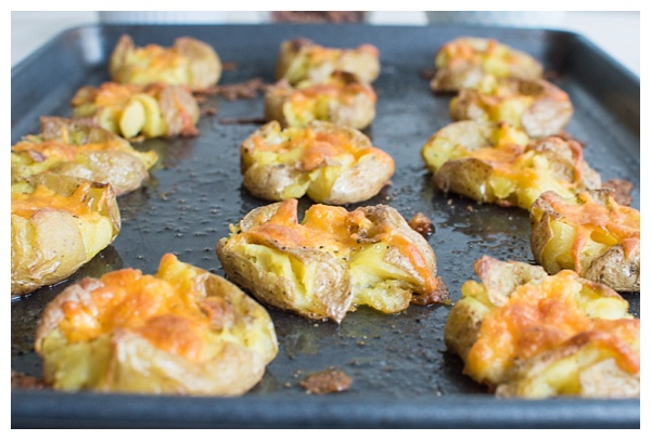 Smashed Potatoes With Sour Cream And Chives Recipe — Dishmaps